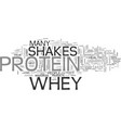 whey protein shakes text word cloud concept vector image vector image