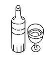 wine icon doodle hand drawn or outline icon style vector image
