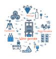 blue round wine press concept vector image