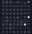 laundry care symbols vector image