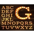 Lamp alphabet old style vector image