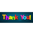 Paper thank you sign vector image