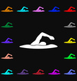 swimmer icon sign Lots of colorful symbols for vector image