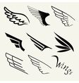 Wings set on white background vector image