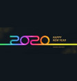 2020 new year logo greeting design vector image vector image