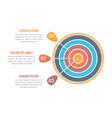 3 steps to goal vector image vector image