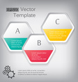 3d paper hexagon elements for infographic vector image vector image