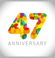 47 years anniversary circle colorful logo vector image