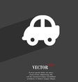 Auto icon symbol Flat modern web design with long vector image vector image