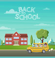 back to school school bus with vector image vector image