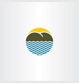 beach island logo icon sign vector image vector image