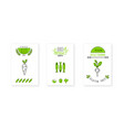 bio product logo design vegetarian food badges vector image vector image
