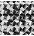 black and white meander pixel art seamless pattern vector image vector image
