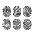 Black finger print set vector image vector image
