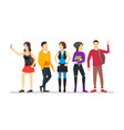 cartoon street clothes characters people concept vector image vector image