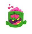 cartoon zombie in love vector image