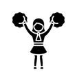 cheerleading black icon concept vector image vector image