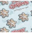 Christmas and New Year seamless texture with vector image vector image