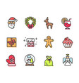 christmas collection of items vector image