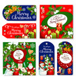 christmas holidays wish greeting posters vector image vector image