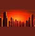 city landscape skyscrapers view vector image vector image