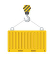 container flat icon logistic and delivery vector image