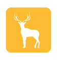 deer silhouette icon vector image vector image
