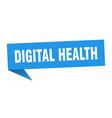 digital health speech bubble digital health vector image vector image