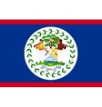 Flag of Belize in correct size and colors vector image vector image