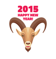 Goat - Merry Christmas and Happy New Year 2015 vector image vector image