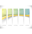 Gold border wave crystal flyers set collection vector image vector image