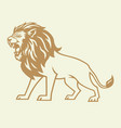 gold lion logo vector image