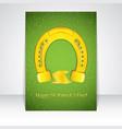 golden horseshoe flyer vector image