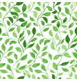 green leaves classic foliage pattern vector image