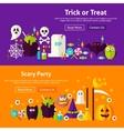 Halloween Party Website Banners vector image vector image
