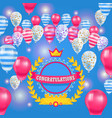 happy birthday baloons celebration poster vector image