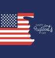 happy presidents day poster with usa flag vector image vector image