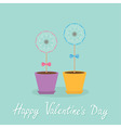 Happy Valentines Day Love card Two dandelion vector image vector image