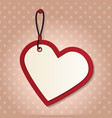 heart tag vector image vector image
