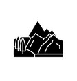 hills black icon sign on isolated vector image vector image