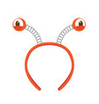isolated headband icon with crab eyes vector image
