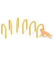 isometric hound hoops agility dog training vector image