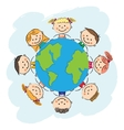 kids save earth vector image