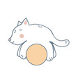 kitten on the yellow ball vector image