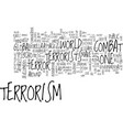 let us learn to live with gorilla terrorism text vector image vector image