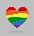 lgbt heart love element flag pride gay vector image vector image
