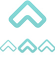 Light blue arrow logo design set vector image vector image