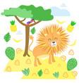 lion in scandinavian style vector image