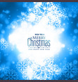 lovely merry christmas winter snowflakes glowing vector image