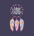 make your dreams vector image